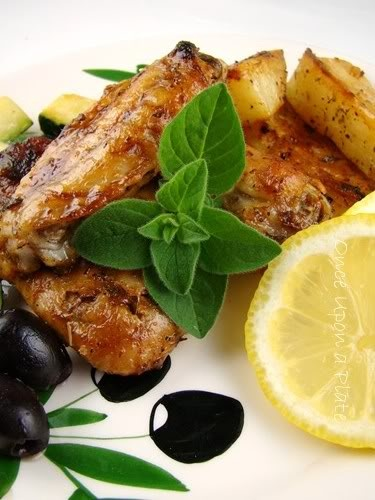 Roasted Greek-style Chicken with Lemon, Garlic and Oregano