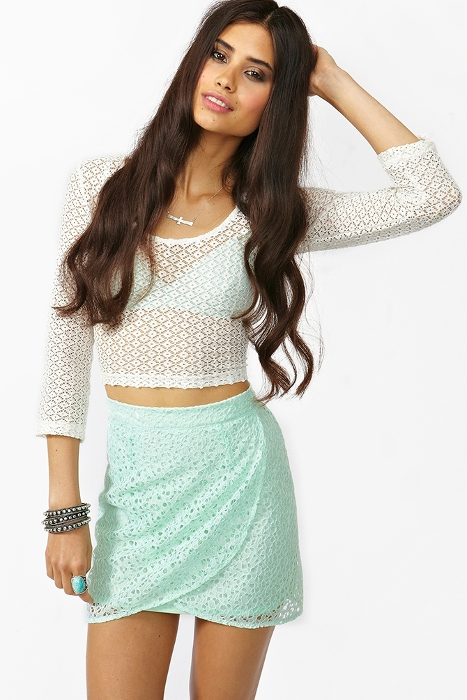 Lace Tulip Skirt