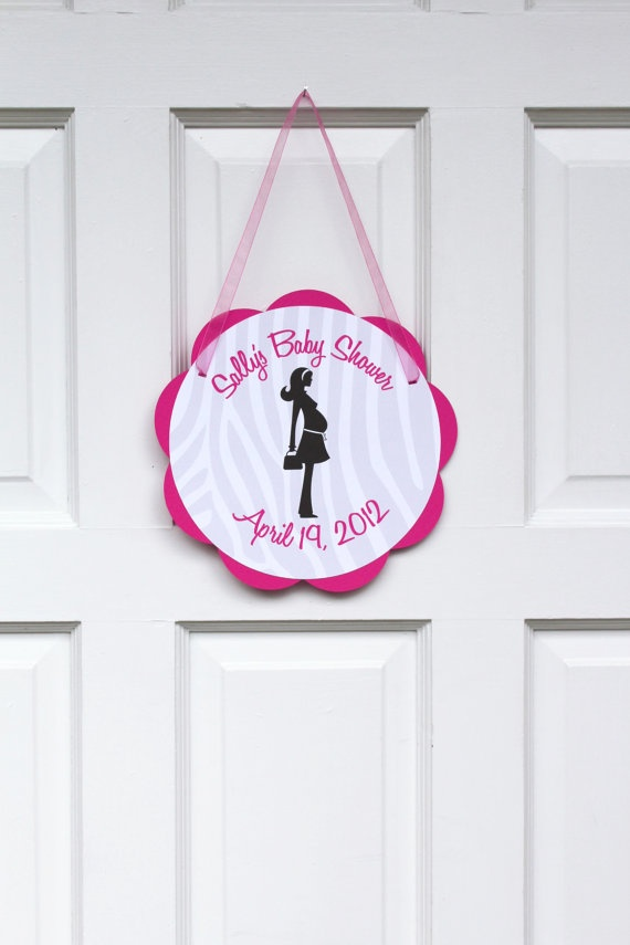 Baby shower door sign baby shower decorations welcome for Baby shower door decoration