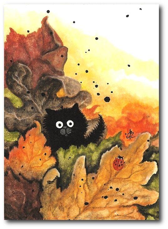cat lynx autumn foliage - photo #49