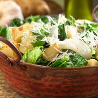 Caesar Salad With Roasted Potatoes and Sweet Texas Onions