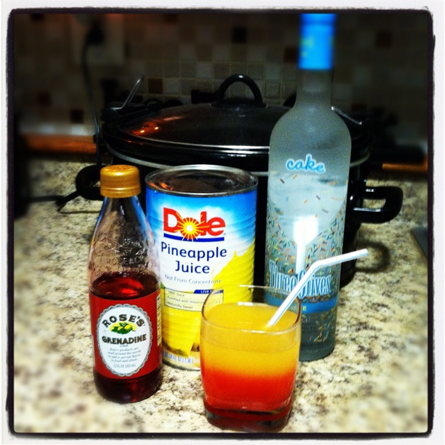 Upside Down Pineapple Cake Mixed Drink