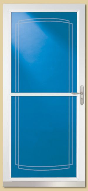New storm door with roll away screen house house pinterest for Storm door with roll up screen
