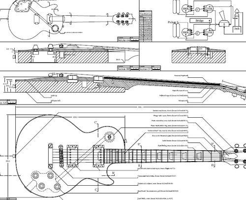 Акустическая гитара своими руками чертежи 2