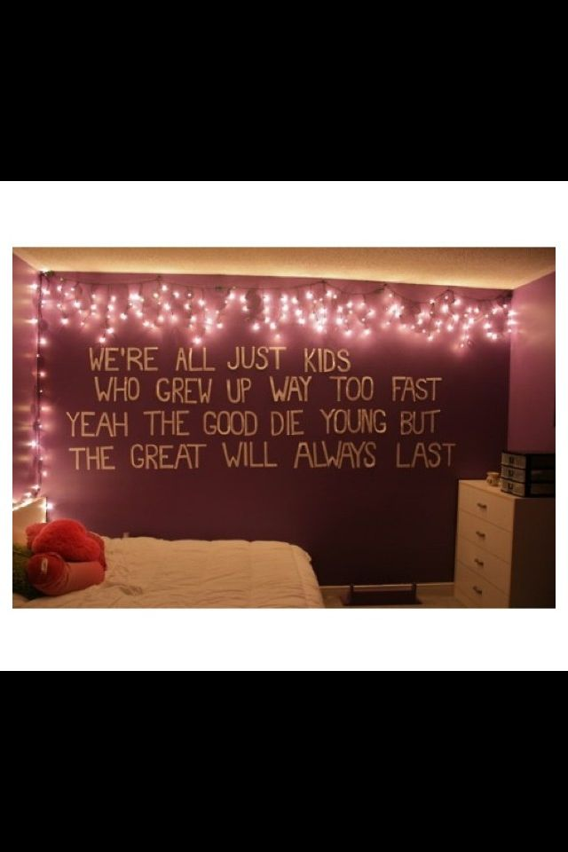 Tumblr Room Wall Quote | Room ideas | Pinterest