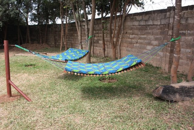Backyard Hammock Reviews : Hammock idea for the backyard  love the double hammock idea No more