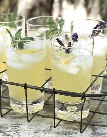 pineapple cooler with lavender sprig | Bridal Tea Party Shower | Pint ...