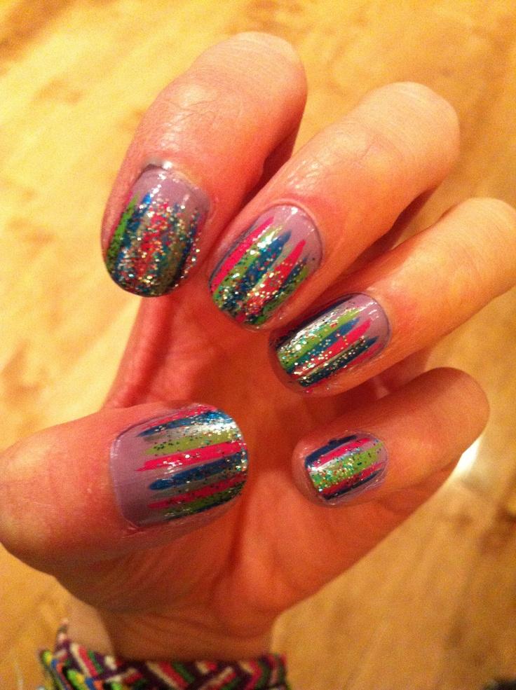 Simple Line Nail Art Designs : Cutenailsart weaving lines nail art design black and