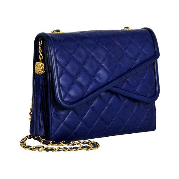 COBALT BLUE HANDBAG liked on Polyvore