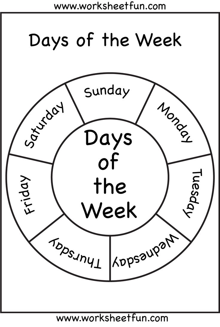 Days of the Week | Days of the Week! | Pinterest