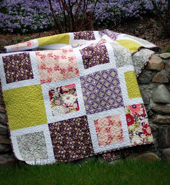 Easy Block Quilt Quilts Pinterest