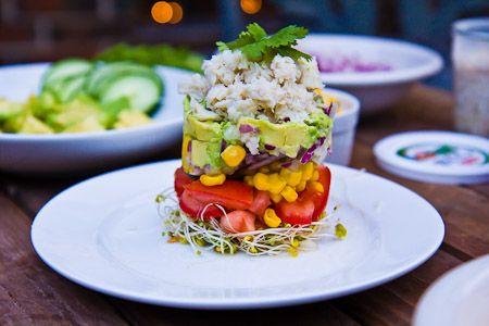 Avocado, Mango & Crab Stacks | FOOD: healthy | Pinterest