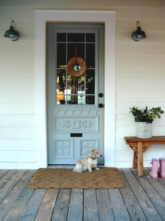 front door porch Farmhouse