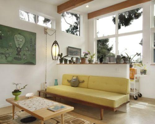 Wohnzimmergestaltung Ideen im Retro-Stil Wohnen Pinterest