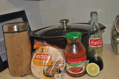 cafe rio sweet pork recipe made with 5 ingredients in the crock pot..tastes just like it!!!