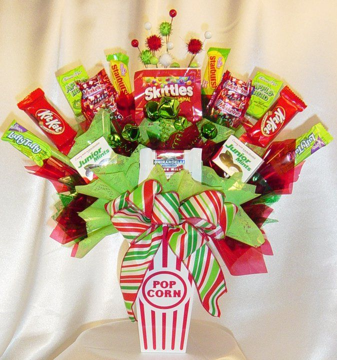 Christmas candy bouquets homemade the for Edible christmas gift ideas to make