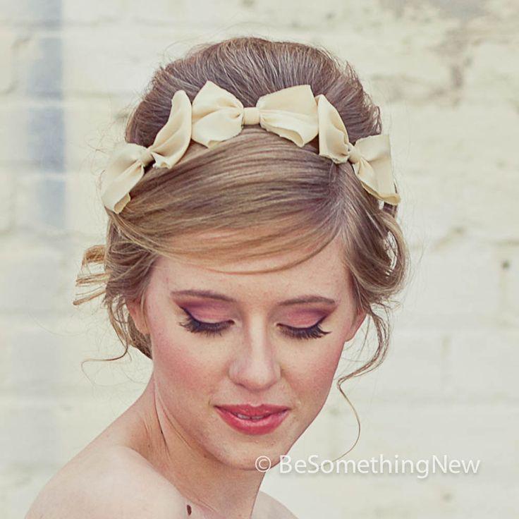 Ободки для волос с бантиками
