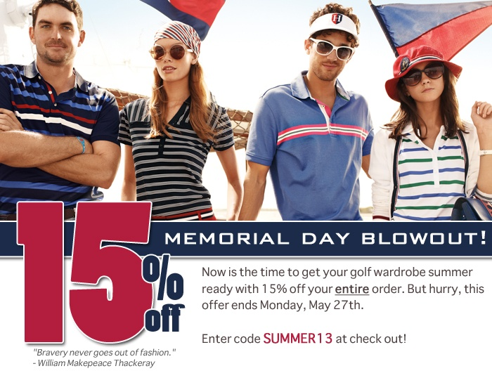 memorial day weekend golf sales