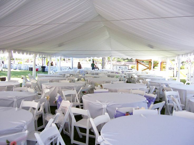 Garcia39;s Tents For reception outside  White tent amp; round tables w