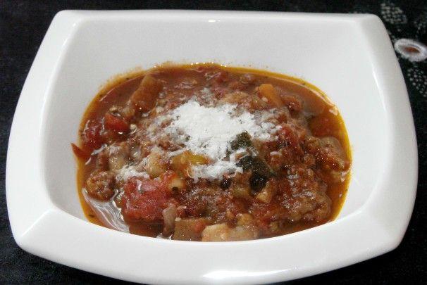 Italian Eggplant and Zucchini soup