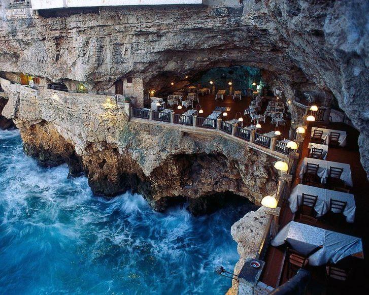 Cliff Caves Restaurant Italy Travel Pinterest