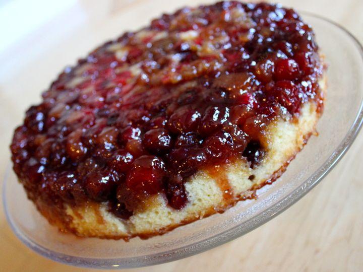 Cranberry upside-down cake   Stuff I've made   Pinterest