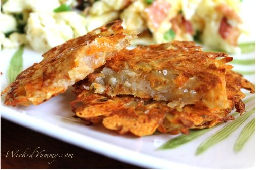 Oven-Roasted Hash Brown Cakes Recipe — Dishmaps