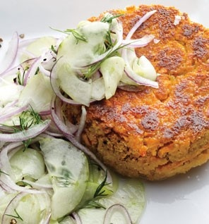 Chickpea and sweet potato patties!