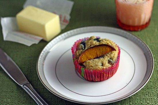 Blueberry-Peach Bran Muffins - Healthy. Delicious.