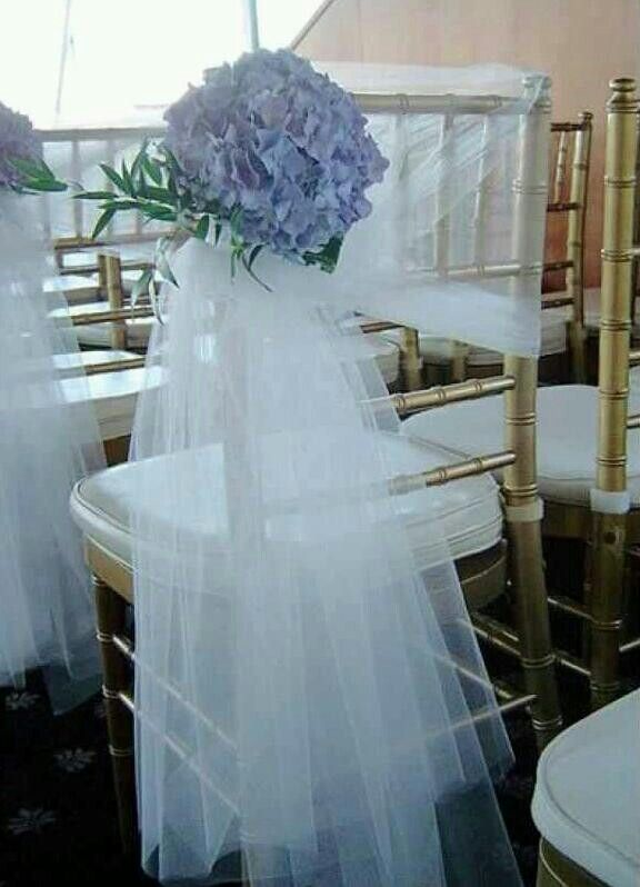 Tulle Aisle Chairs Florals
