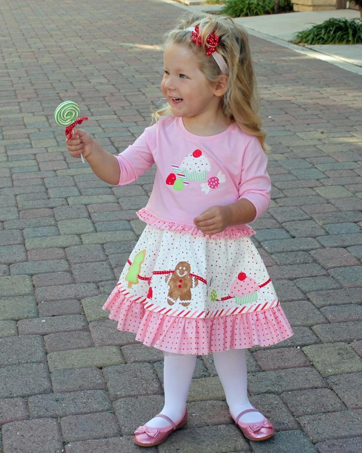 Christmas sugarplums applique toddler girls pattern outfit dress skirt