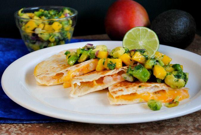 shrimp quesadilla with mango salsa | Suzanne @Wendy Werley-Williams ...