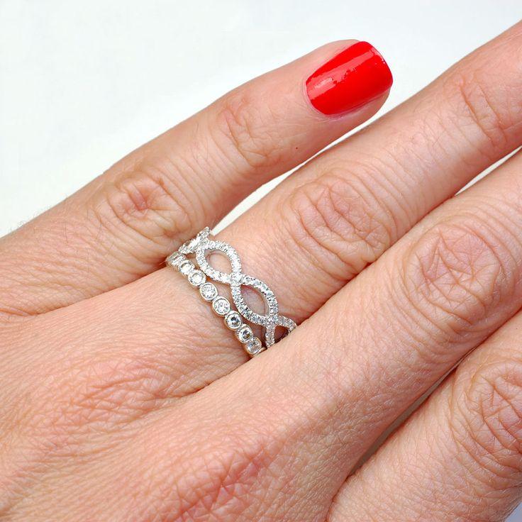 ring wedding band infinity band