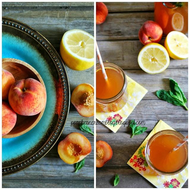 lemonade iced tea via peaches amp cream peaches amp cream
