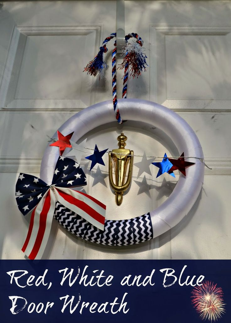 Fourth of July Wreath, Party Decor