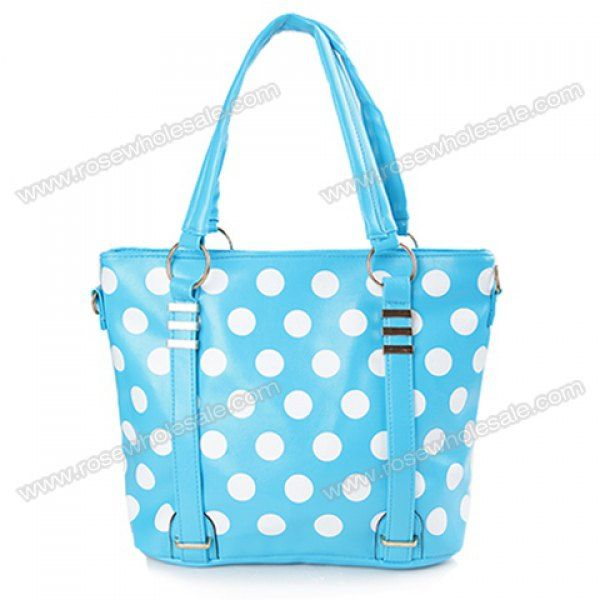 ... Dots and Metal Design (SKY BLUE), Shoulder Bags - Rosewholesale