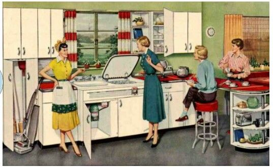 1950s Interior Design Kitchen Things I Love Pinterest