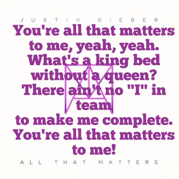 All that Matters - Justin Bieber (JB) + (Lyrics Video ...
