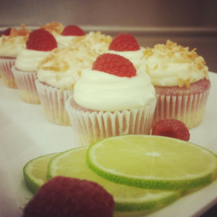 Raspberry Lime Cupcakes | by me | Pinterest