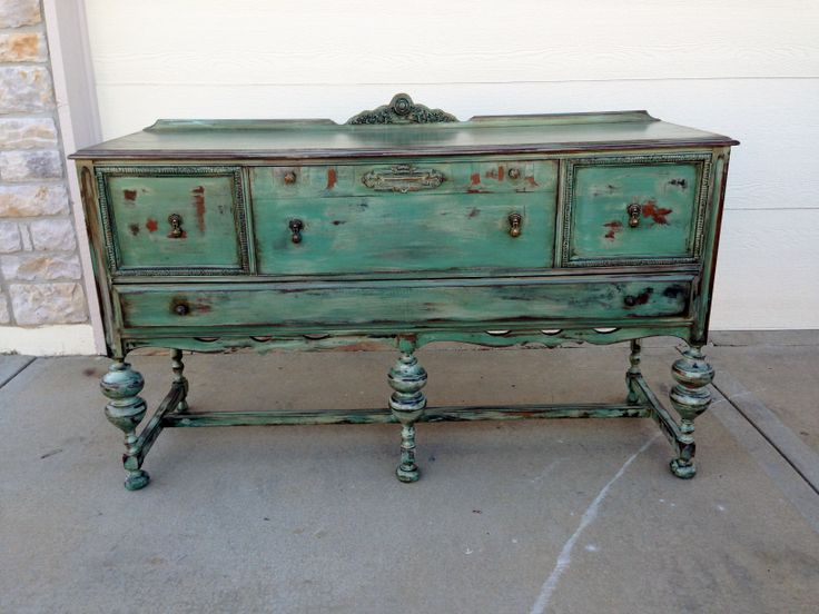 I refinished this antique buffet!! | Painted furniture ...