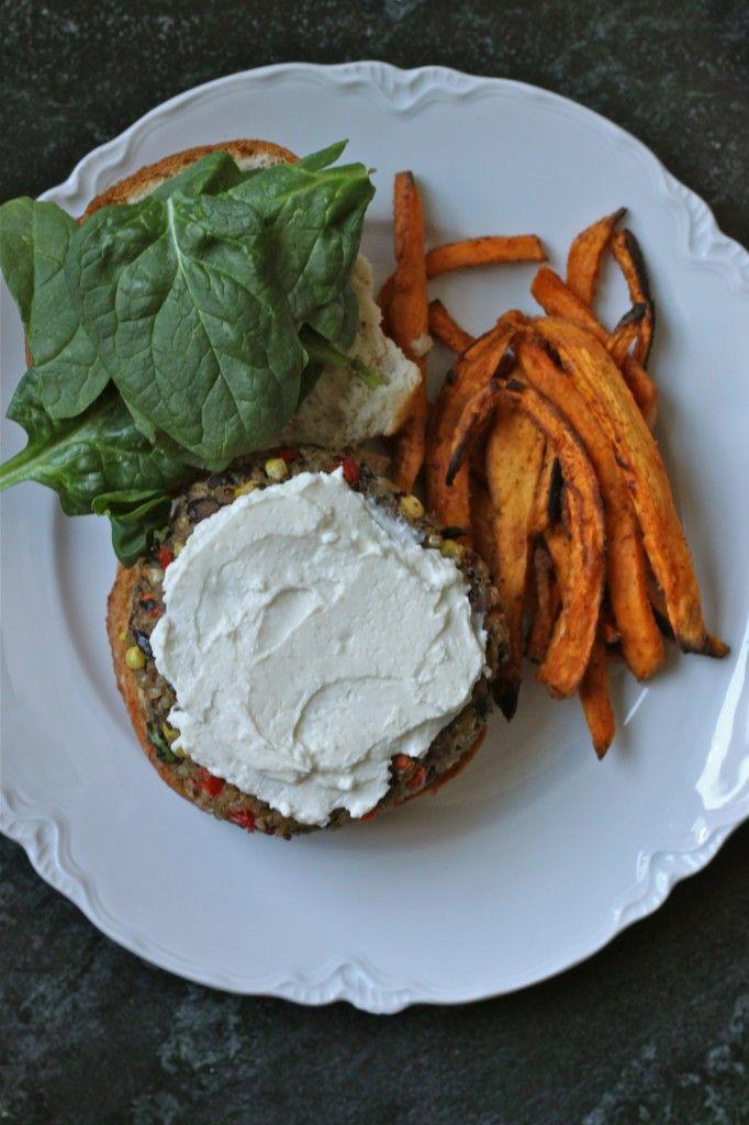 Quinoa Veggie Burgers with Whipped Feta   Recipe