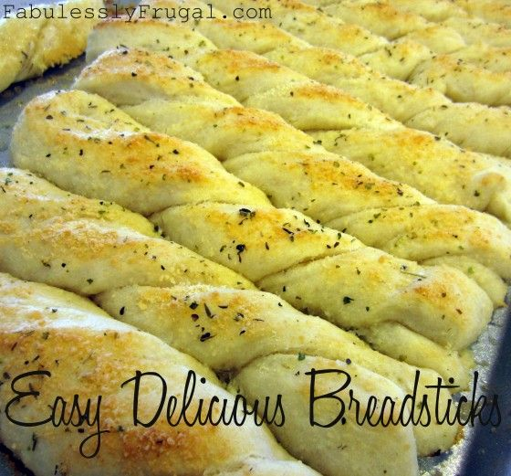 The best bread stick recipe! Easy, quick, and delicious!