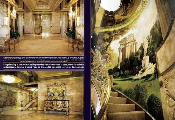 Donald Trump Apartment Home Opulently Speaking Pinterest