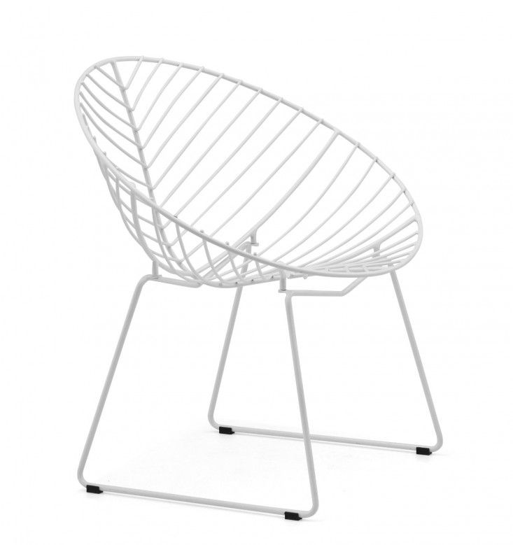 White Wire Outdoor Chair Furnish