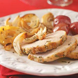 Roast Pork with Apples & Onions