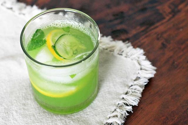 Girl Cooks World » Cucumber Agua Fresca with Lemon and Mint #vegan