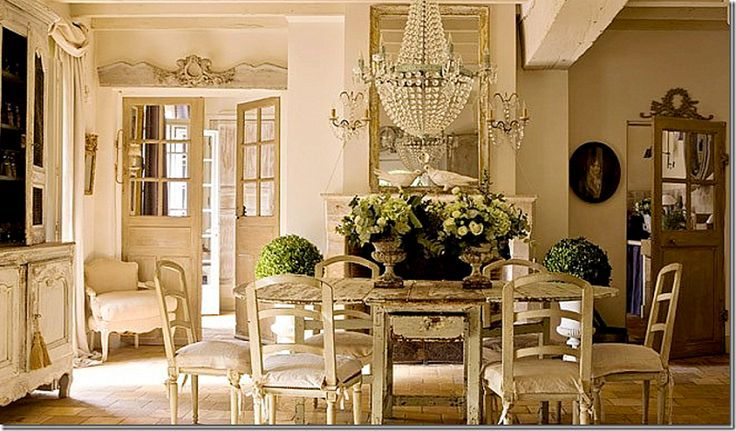 Chateau Shabby Chic Dining Room Favorite Spaces Pinterest