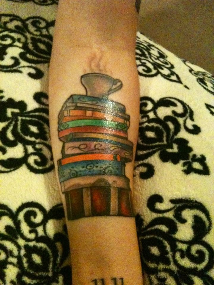 stack of books tattoo tattoos maybe one day pinterest. Black Bedroom Furniture Sets. Home Design Ideas