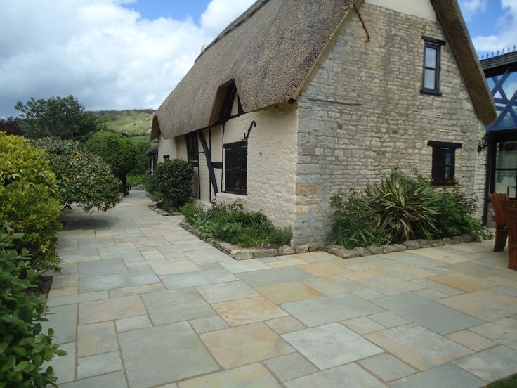Outdoor Pavers Logan : Abbey limestone paving antique natural stone pin