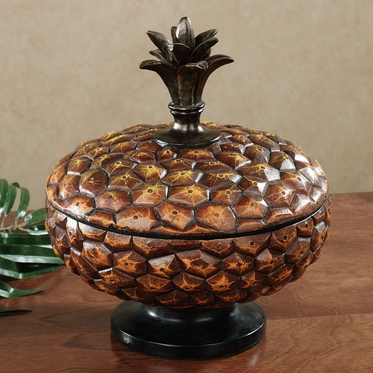 Pineapple Covered Bowl Harvest Gold